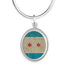 VintageChicago Silver Oval Necklace