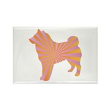 Sheepdog Rays Rectangle Magnet