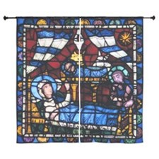 """Stained glass window from the Cathedr 60"""" Curtains"""