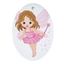 Cute Little Baby Fairy Oval Ornament