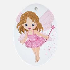 Cute Little Baby Fairy Oval Ornament