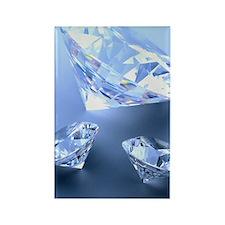 Diamonds Rectangle Magnet