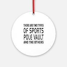 Pole vault Designs Ornament (Round)