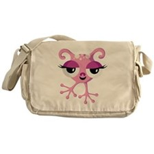 Cute Pink Alien Messenger Bag
