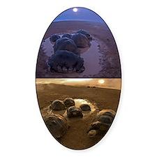 Galapagos giant tortoise thermoregu Decal
