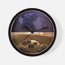 Galapagos giant tortoise thermoregulati Wall Clock