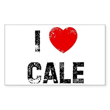 I * Cale Rectangle Sticker