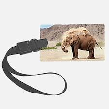 Desert-adapted elephant Luggage Tag