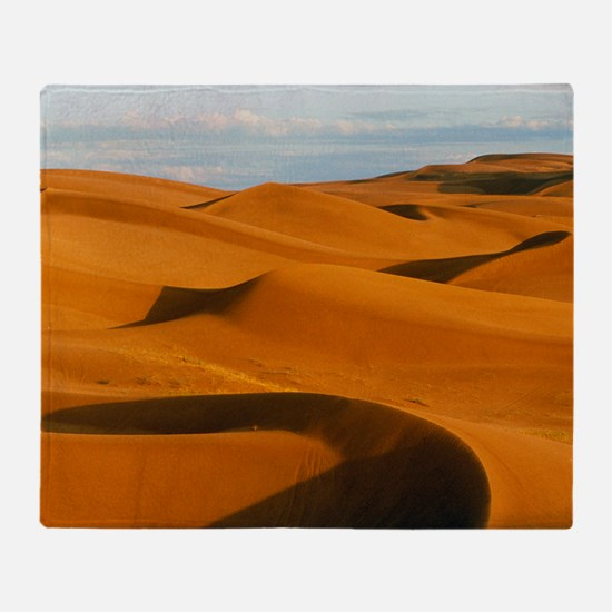 Desert sand dunes at Glamis,near Yum Throw Blanket