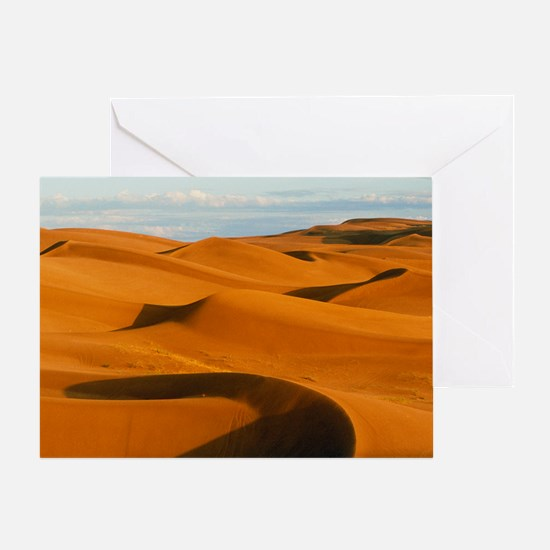 Desert sand dunes at Glamis,near Yum Greeting Card