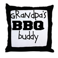 Grandpas BBQ Buddy Throw Pillow