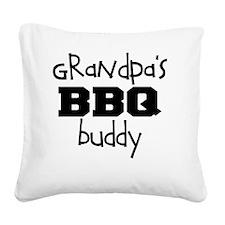 Grandpas BBQ Buddy Square Canvas Pillow