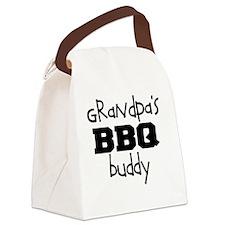 Grandpas BBQ Buddy Canvas Lunch Bag