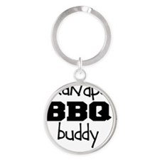 Grandpas BBQ Buddy Round Keychain