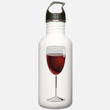 Glass Of Red Wine Sports Water Bottle