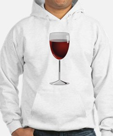 Glass Of Red Wine Jumper Hoody