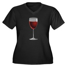 Glass Of Red Wine Plus Size T-Shirt