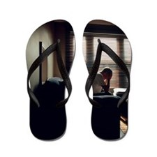Depressed man Flip Flops
