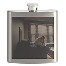 Depressed man Flask