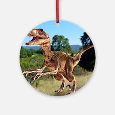 Deinonychus dinosaur Round Ornament