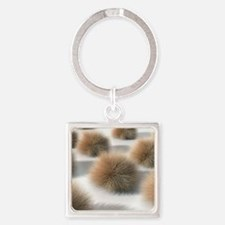 Fungal skin infection, artwork Square Keychain