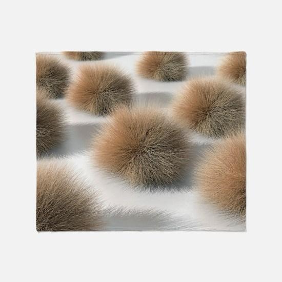 Fungal skin infection, artwork Throw Blanket