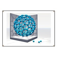 Fullerene molecule Banner