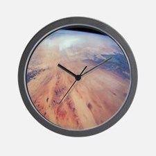Desert in Chad from space Wall Clock