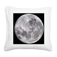 Full Moon Square Canvas Pillow