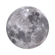 Full Moon Round Ornament