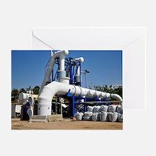 Desalination plant main water pipe Greeting Card
