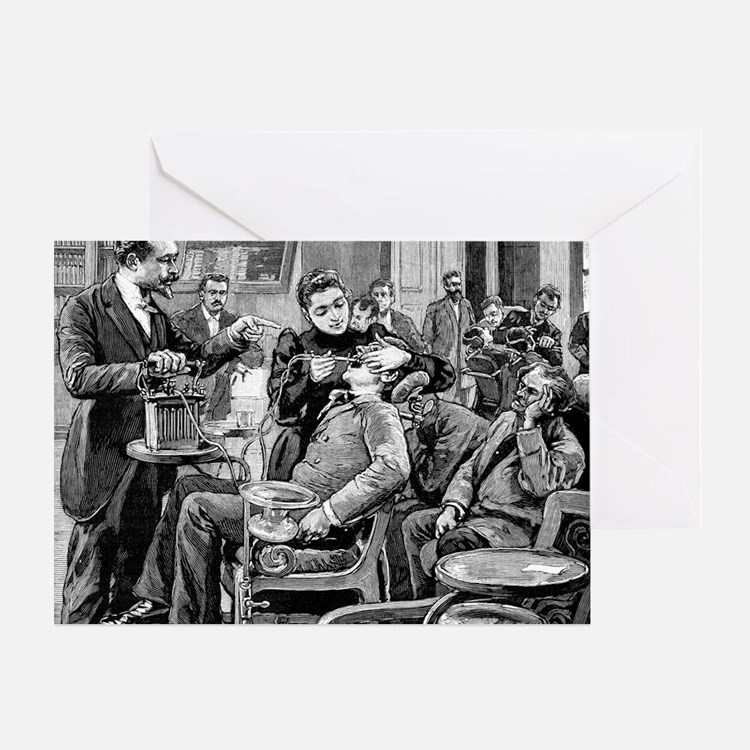 Dental surgery, 19th century Greeting Card