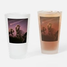 Death of dinosaurs Drinking Glass