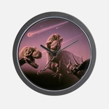 Death of dinosaurs Wall Clock