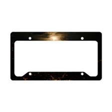 France-Italy border at night, License Plate Holder