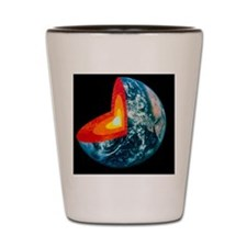 Cut-away of Earth showing interior stru Shot Glass