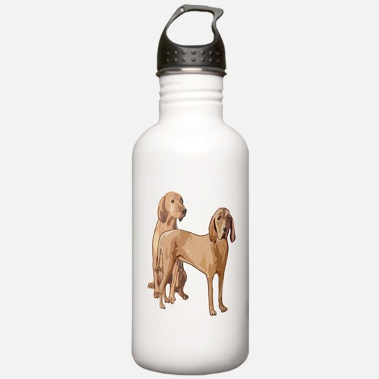 two redbone coonhounds Water Bottle