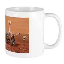 Curiosity rover on Mars, artwork Mug