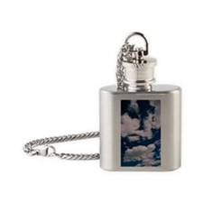 Cumulus clouds Flask Necklace