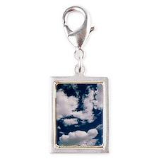 Cumulus clouds Silver Portrait Charm
