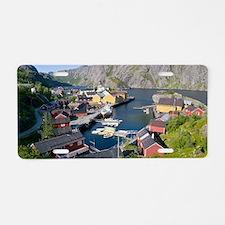 Fishing village, Norway Aluminum License Plate