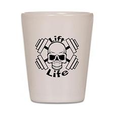 lift life skull Shot Glass
