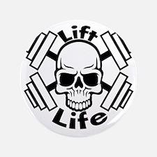 "lift life skull 3.5"" Button"