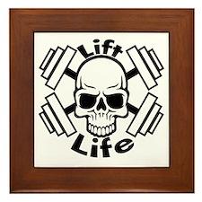 lift life skull Framed Tile