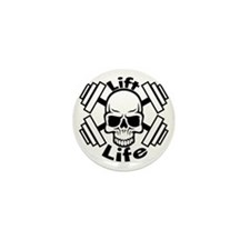 lift life skull Mini Button