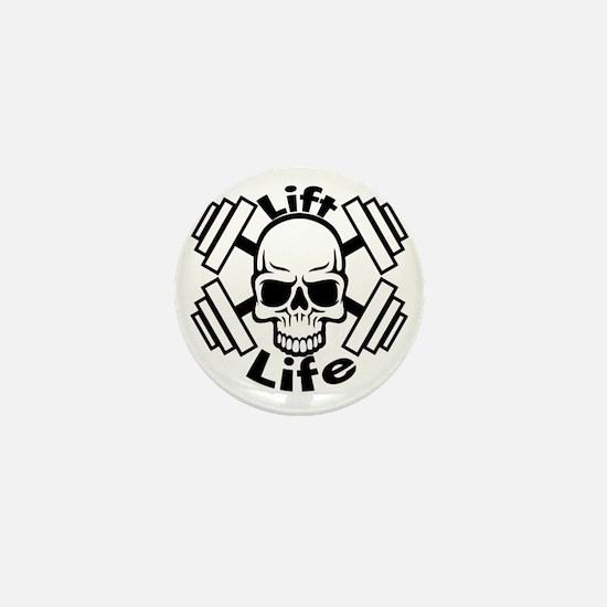 lift life skull Mini Button