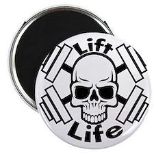 lift life skull Magnet