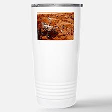 Curiosity rover on Mars, artwor Travel Mug