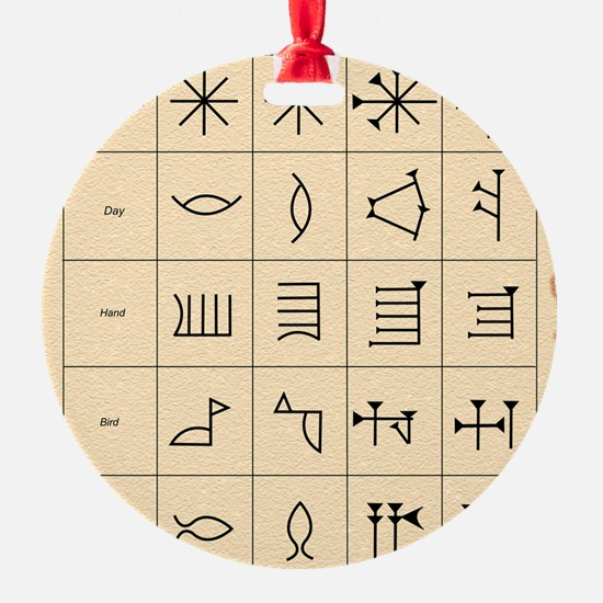 Cuneiform script Ornament