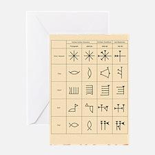 Cuneiform script Greeting Card